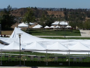 CSUSM basket and tents