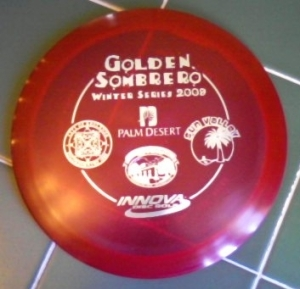 The original Golden Sombrero stamp - 2009