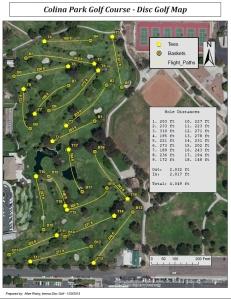 Colina Park DGC Map - 01222015